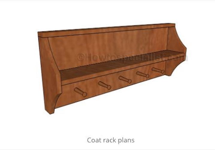Use this Coat Rack Free Plan to build a coat rack.