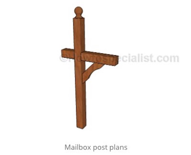 Here is an Easy-to-build Mailbox Post.