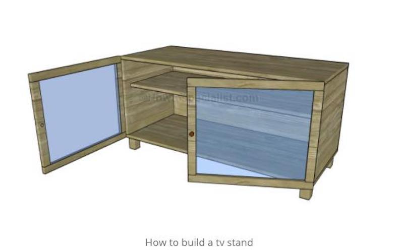 Free plans to build a TV Stand.