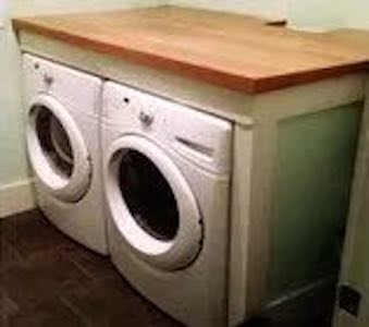 Free plans to build a Laundry Room Countertop.