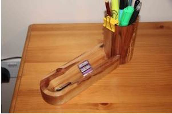 Learn how to turn a Desk Tidy on the lathe.