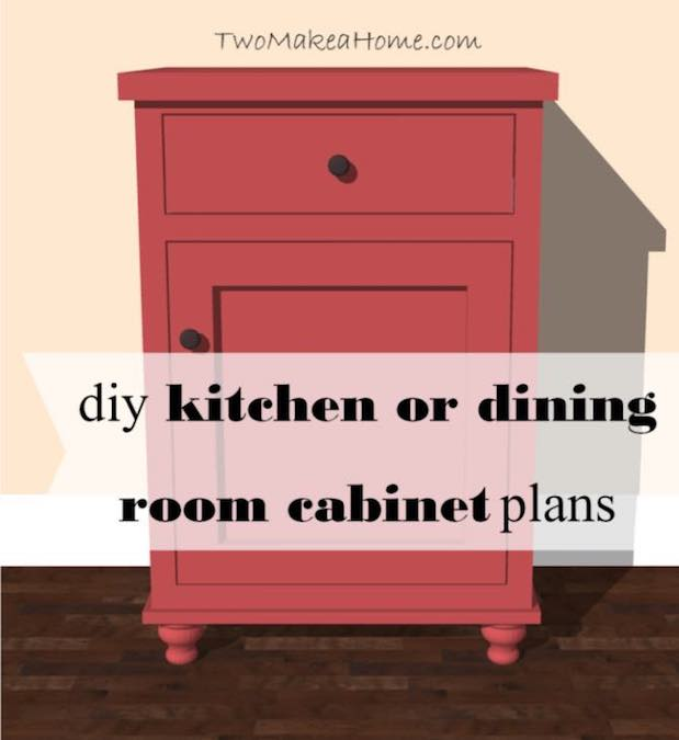 Free plans to build a Dining Room Storage Cabinet.