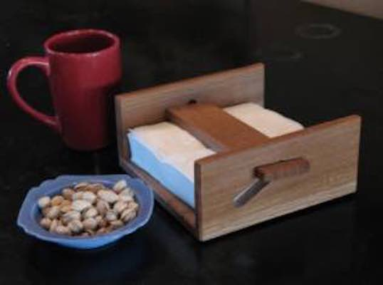 Build a 4 Part Napkin Holder using free plans.