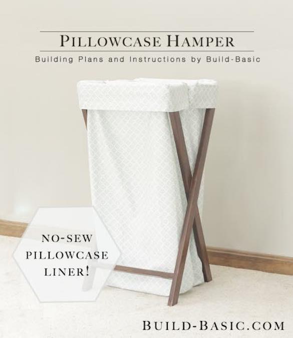 Build a Pillowcase Laundry Hamper using free plans.