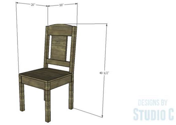 Build a Traditional Dining Chair using free plans.