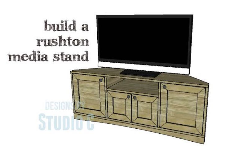 Build a Corner Media Stand using free plans.