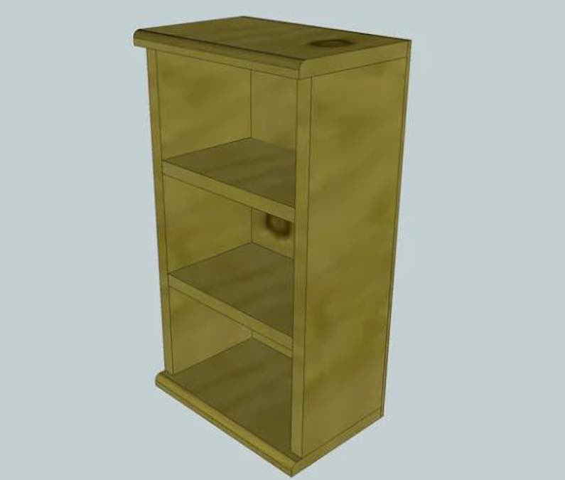 Free plans to build a CD Storage Case.