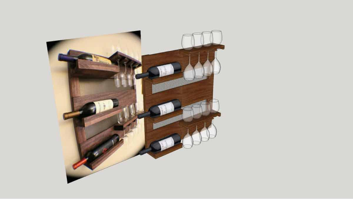 wine racks,wall mounted wine racks,diy,free woodworking plans,free projects,do it yourself