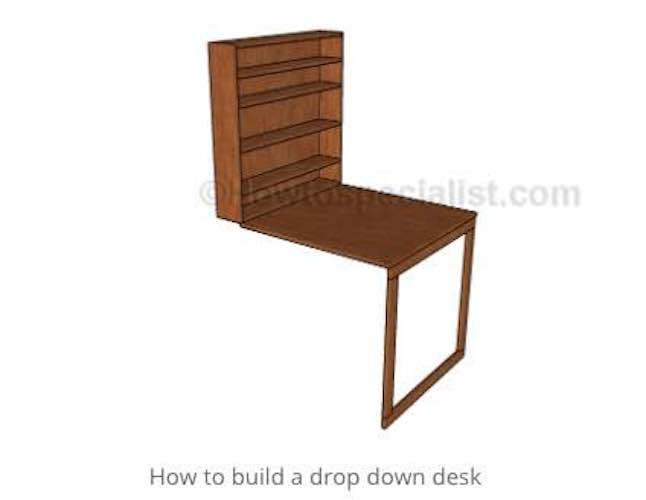 Learn how to build a Drop Down Desk.