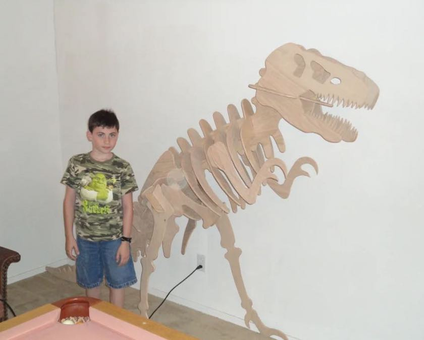 Free plans to build a T Rex.
