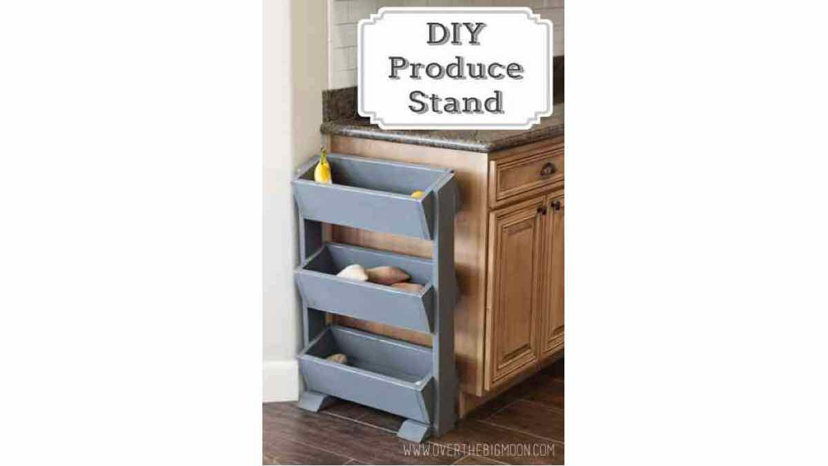 fruit stands,produce stands,storge,kitchens,diy,free woodworking plans,free projects,do it yourself