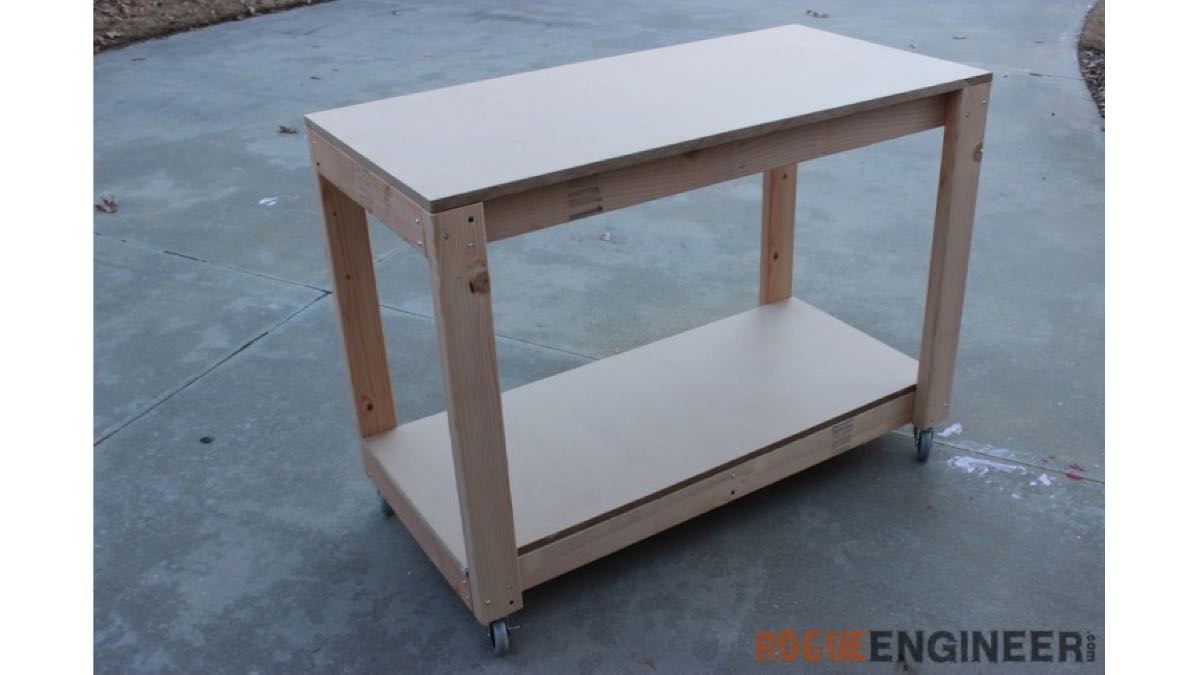 Easy Portable Workbench free woodworking project DIY.