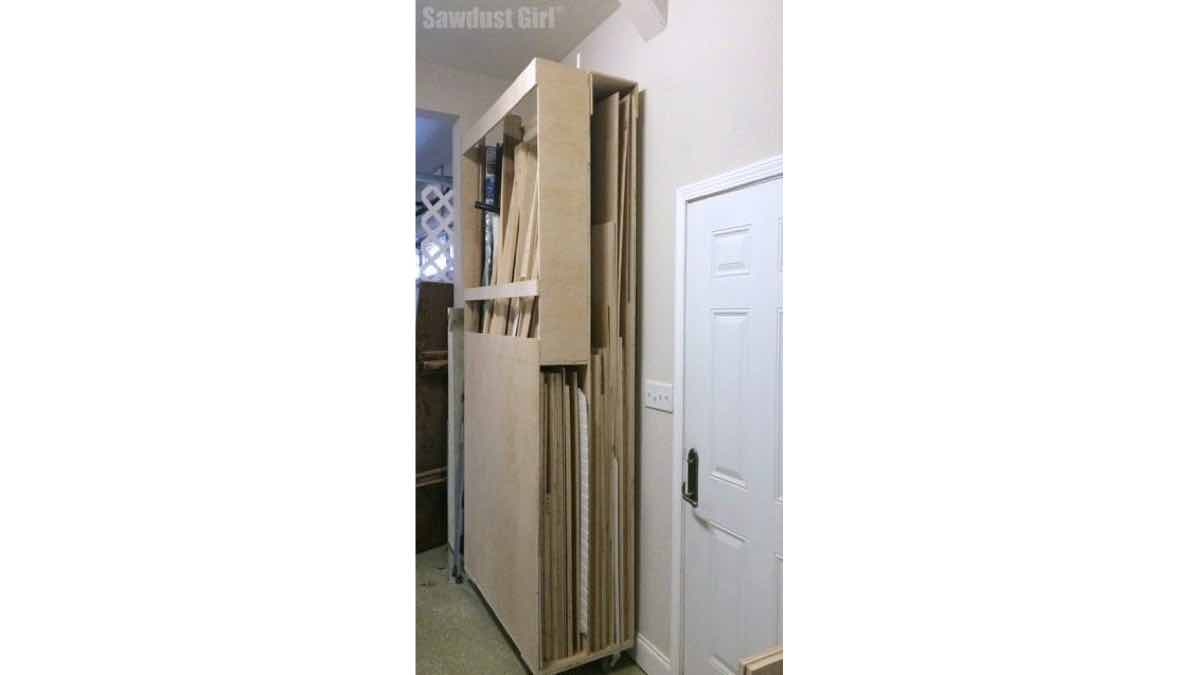 lumber cart,lumber storage,workshop storage,diy,free woodworking plans,workshop projects,do it yourself