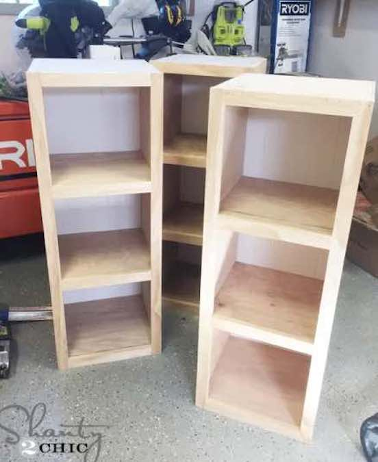 Build a pair of Closet Storage Towers using free plans.