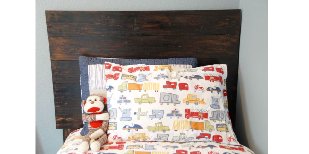How to build a Twin Headboard free project.