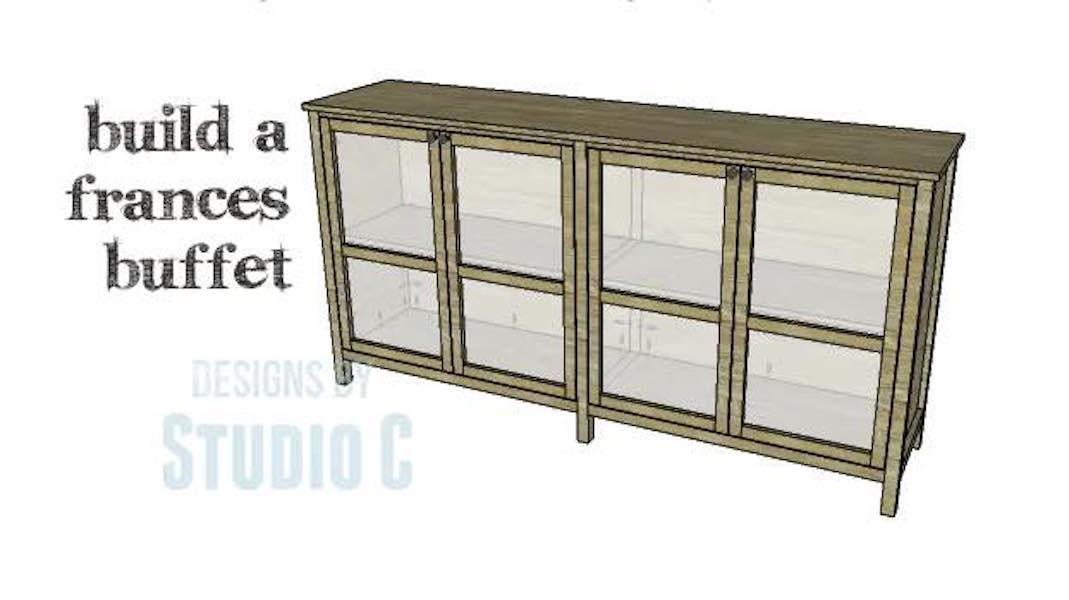 Free plans to build a Buffet with Doors.