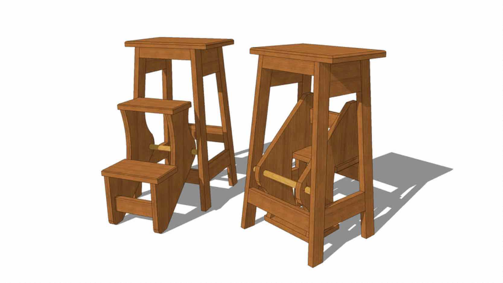 step stools,flip out stools,diy,free woodworking plans,free projects,do it yourself