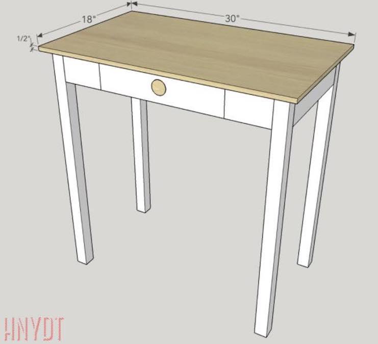 Build a Compact Desk using free plans.