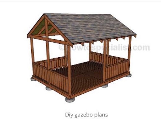 Free plans to build a DIY Backyard Gazebo.