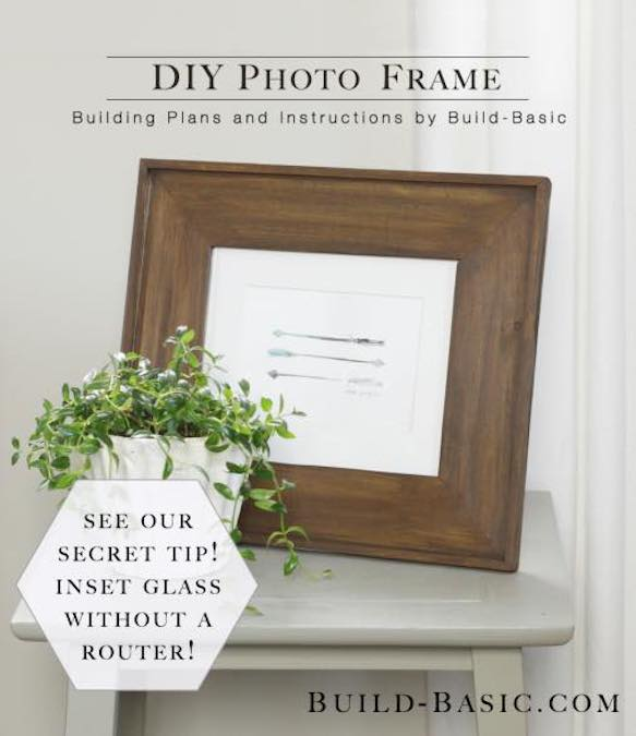 Free plans to Build a Basic Photo Frame.