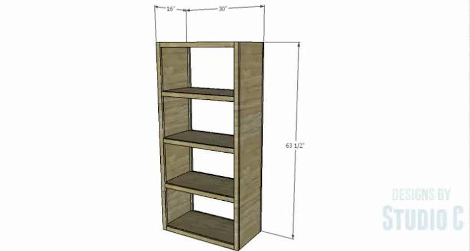 Build a simple Parson Bookcase with free plans.