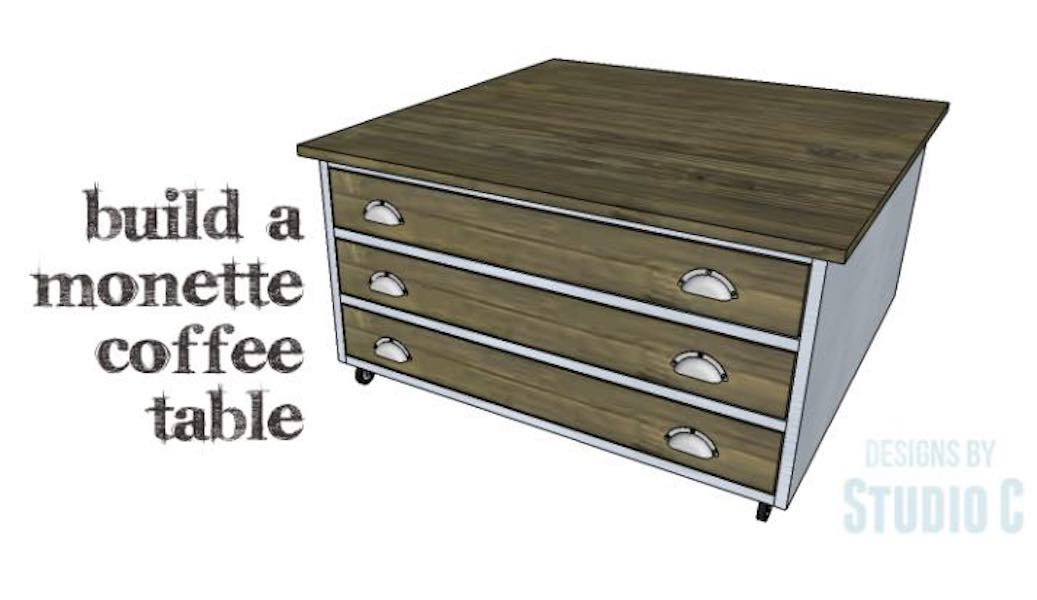 Build a Coffee Table with Storage using free plans.