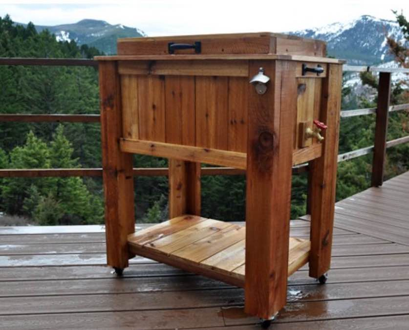 Free plans to build your own patio cooler.
