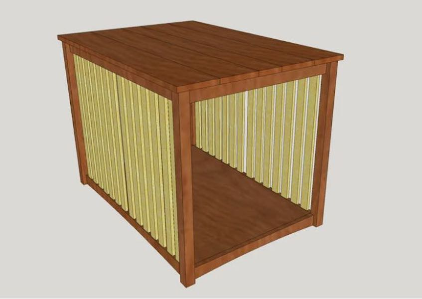 Free plans to build a Dog Kennel.