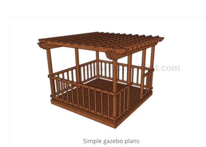 Free plans to build a backyard gazebo.
