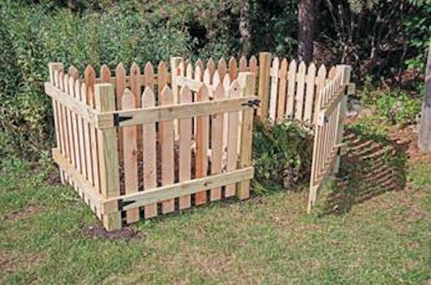 Free plans to build a DIY 2 Part Compost Bin.