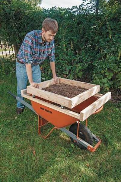 Free plans to build a Soil Sifter.