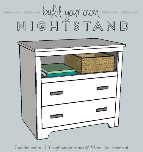 Free plans to build a Nightstand.
