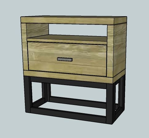 Learn how to build this modern Nightstand.