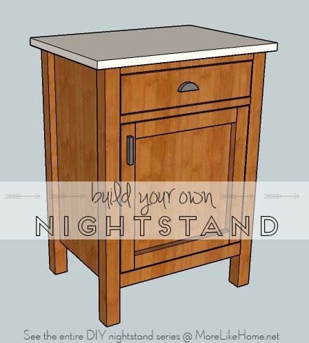 Build your own nightstand using these free plans.