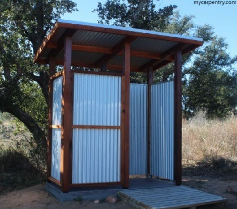 Free plans to build an Outdoor Shower.