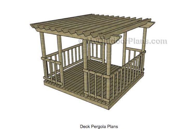 Free plans to build a Deck Pergola.