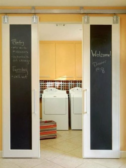 Build Sliding Chalkboard Doors using free plans.