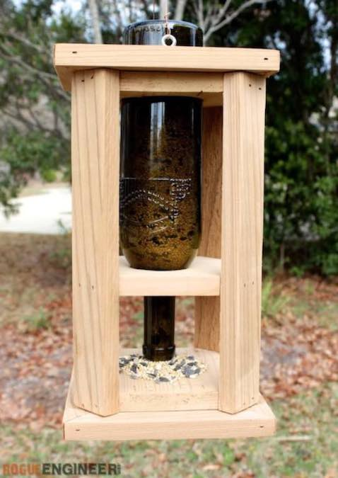 Build a Bird Feeder using these free plans.