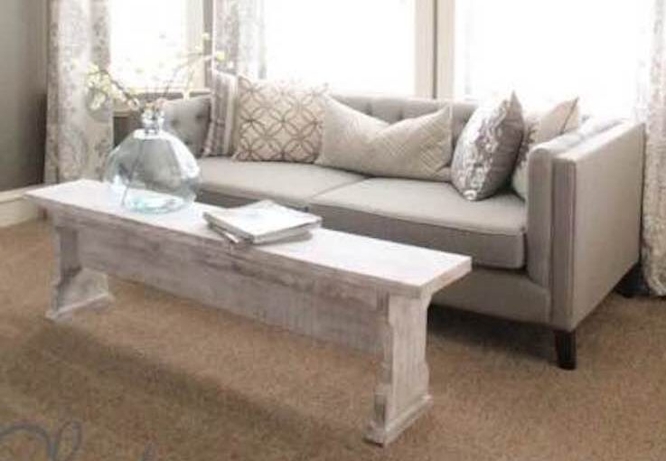 Learn how to build a Bench or Coffee Table.