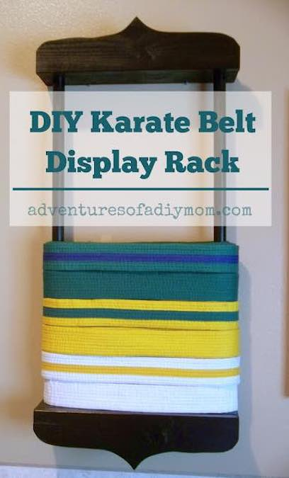 Free plans to build a Karate Belt Holder.