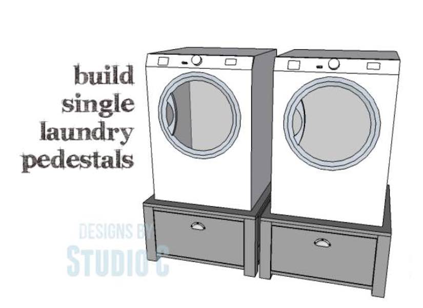 Free plans to build a Laundry Pedestal.