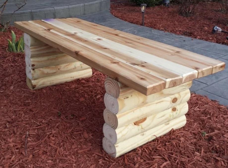 Free pans to build an outdoor garden bench.