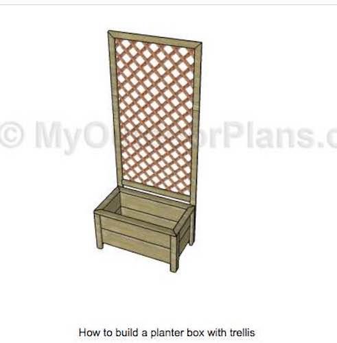 Free plans to build a Planter Box with Trellis