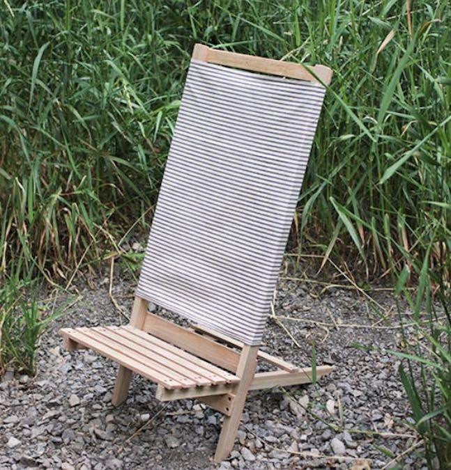 Build a 2 part Camp Beach Chair using free plans.