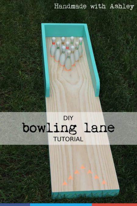 Free plans to build a game of Mini Bowling.
