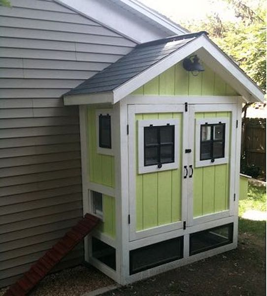 Build a Chicken Coop and Run using free plans.