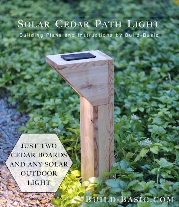 Build a Solar Cedar Path Light using free plans.