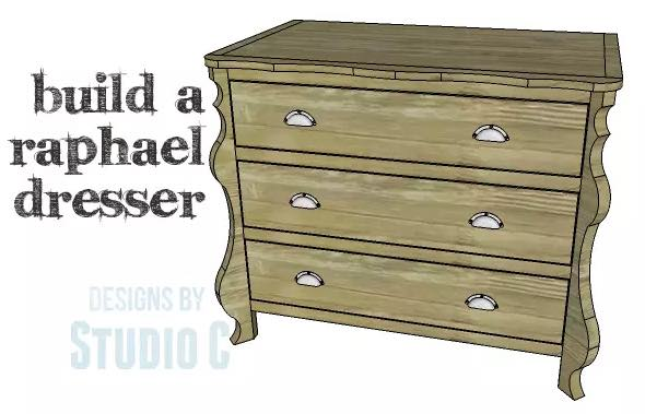 Free plans to build your own Dresser with Curved Front Legs.