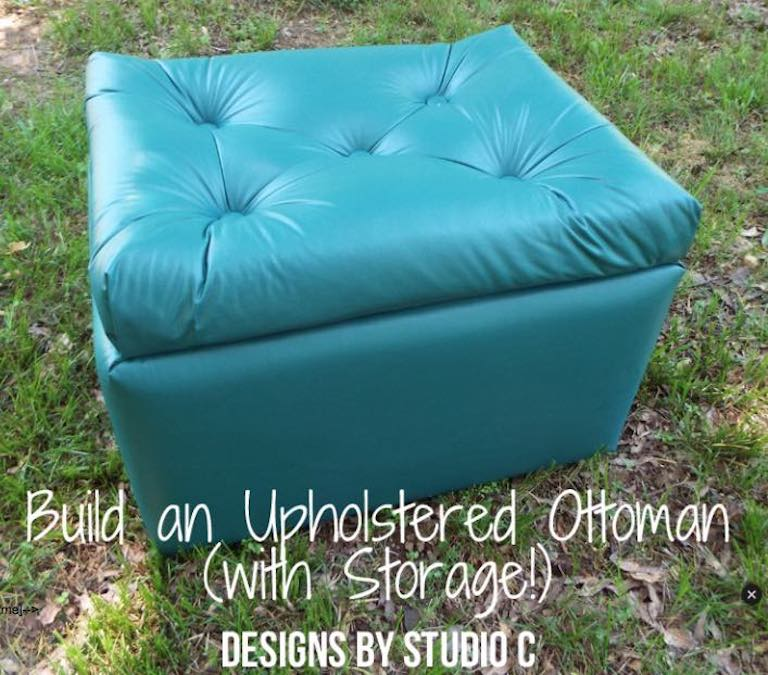 Free plans to build an Upholstered Ottoman.