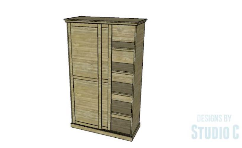 Free plans to build a Sliding Door Cabinet.